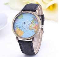 189чер - Наручные кварцевые часы с коттоновым ремешком