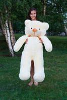 Плюшевая игрушка медведь, мишка 140 см, кремовый