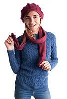 Модный вязанный женский берет
