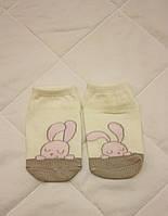 Детские белые носочки Зайчики