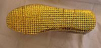 Стелька с белого войлока на золотой фольге 34-48
