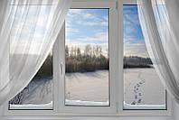 Окно металлопластиковое Rehau'60 2100*1400 3-секционное с открыванием по центру