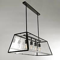 Подвесной светильник LOFT [ Classic Black & White ] (4 Lamp Edisons)