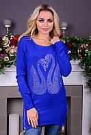 Шикарный женский свитер со стразами, фото 1
