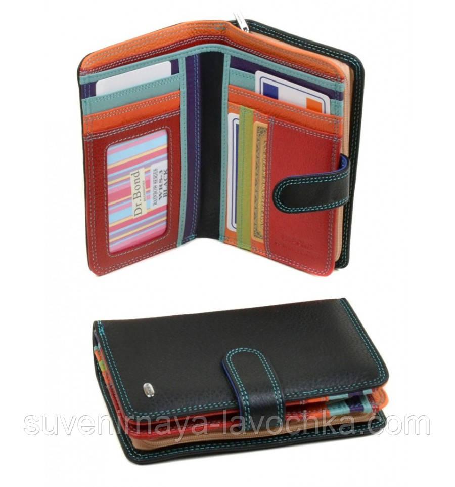 08edd7277747 Кошелек Rainbow кожа dr.Bond WRS-3 black, кошелек элитный, качественный