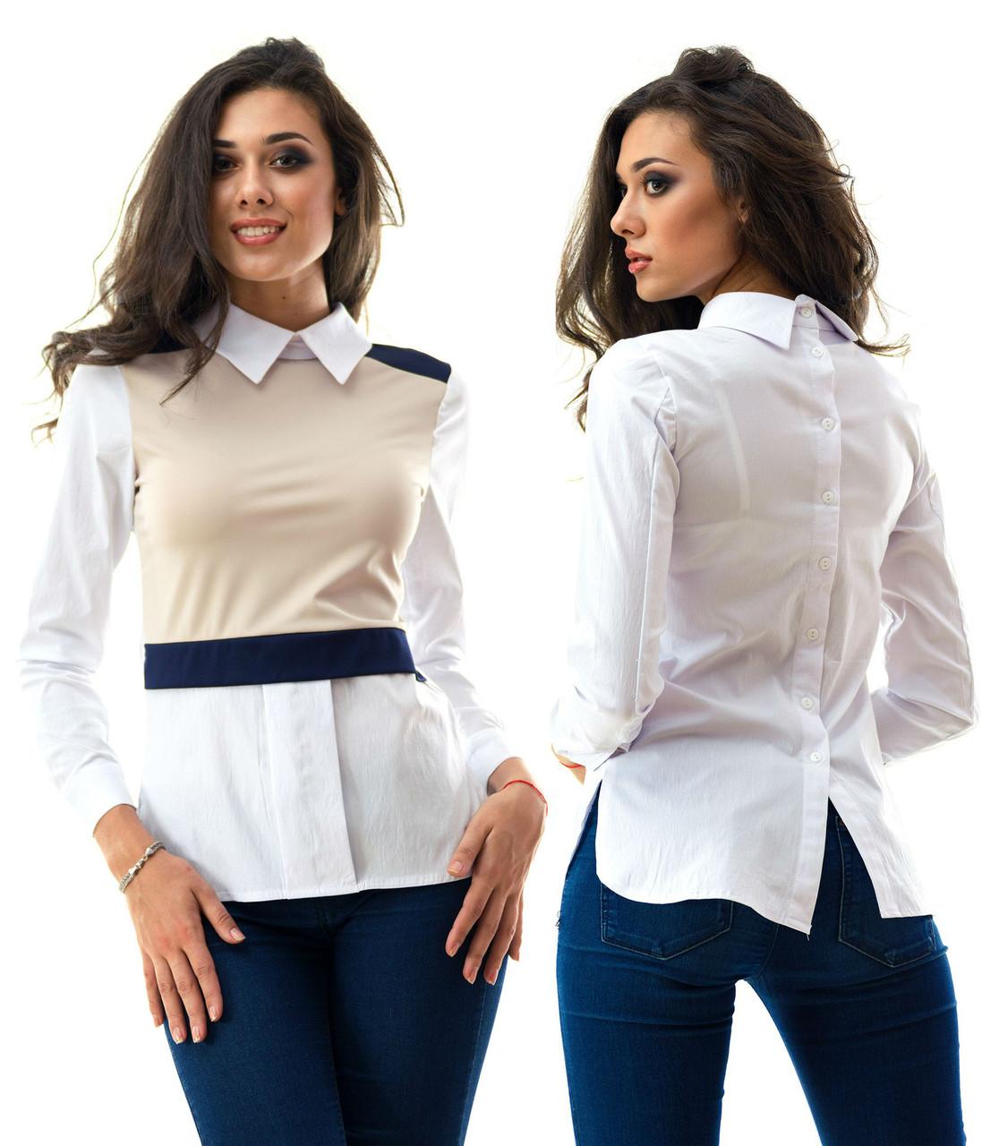 Блуза  кофточка из бенгалина с воротничком