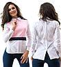 Блуза  кофточка из бенгалина с воротничком, фото 5
