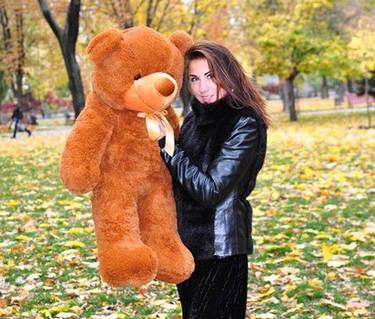 Плюшевая игрушка медведь, мишка 100 см, коричневый