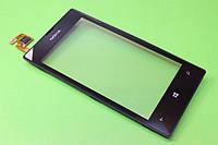 Тачскрин для Nokia 520 Lumia/525 Lumia, чёрный, с передней панелью