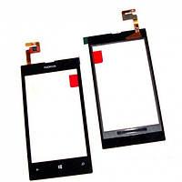 Тачскрин для Nokia 520 Lumia/525 Lumia, чёрный, оригинал (Китай)
