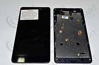 Дисплей для Microsoft 535 Lumia Dual Sim + touchscreen (CT2S1973FPC-A1-E), чёрный, с передней панелью, оригина
