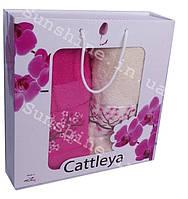 Набор полотенец Турция Cattleya Хлопок 100% в подарочной коробке 2 предмета, фото 1
