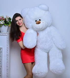 Плюшевая игрушка медведь, мишка 140 см, белый