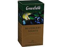 Чай Гринфилд  Blueberry nights черный с ароматом и вкусом черники и сливок 25 пакетов по 1.5г