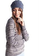 Женская шапка ажурная двойная