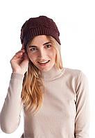 Женская шапка ажурной вязки