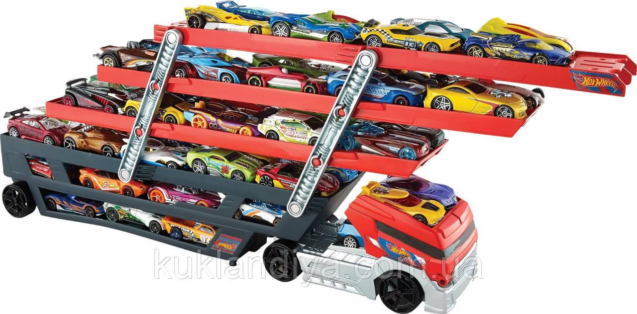 Автовоз Hot Wheels Mega Hauler Тягач на 50 машинок