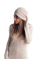 Красивая ажурная вязанная шапочка