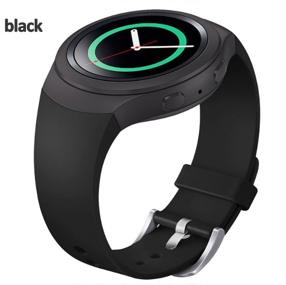 Силіконовий ремінець Primo для годин Samsung Gear S2 Sports SM-R720 / SM-R730 Black