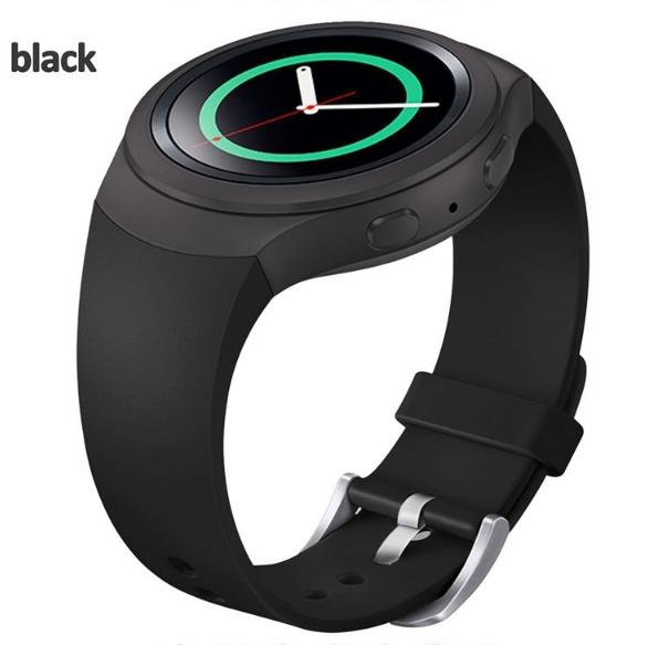 Силиконовый ремешок для Samsung Gear S2 Sports SM-R720 / SM-R730 Black