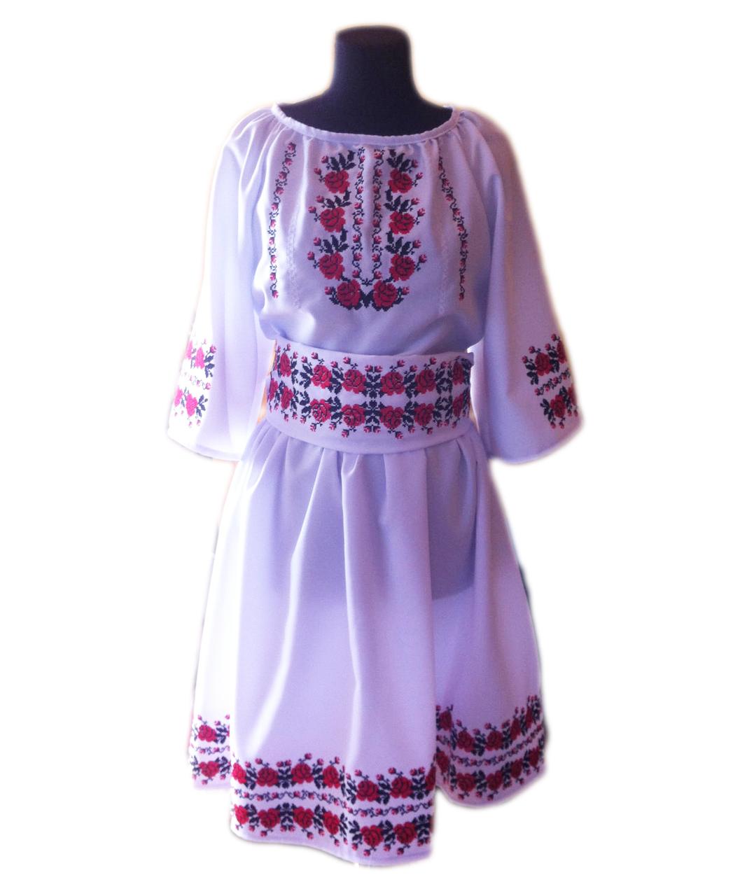 """Женское вышитое платье """"Мадол"""" PT-0027"""
