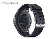 Силіконовий ремінець Primo для годин Samsung Gear S2 Sports SM-R720 / SM-R730 Black, фото 2