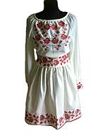 """Жіноче вишите плаття """"Меріал"""" (Женское вышитое платье """"Мериал"""") PT-0044"""
