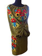 """Жіноче вишите плаття """"Маврі"""" (Женское вышитое платье """"Маври"""") PT-0045"""