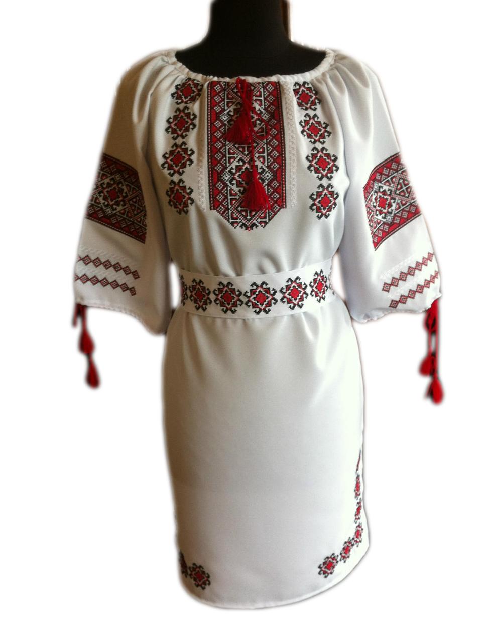 """Женское вышитое платье """"Марджис"""" PT-0048"""
