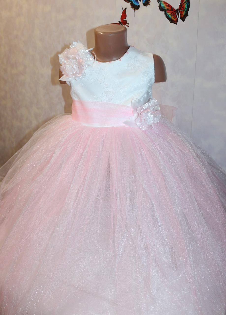 Красивое нарядное платье для девочки 4-7 лет  (без шнуровки на молнии)