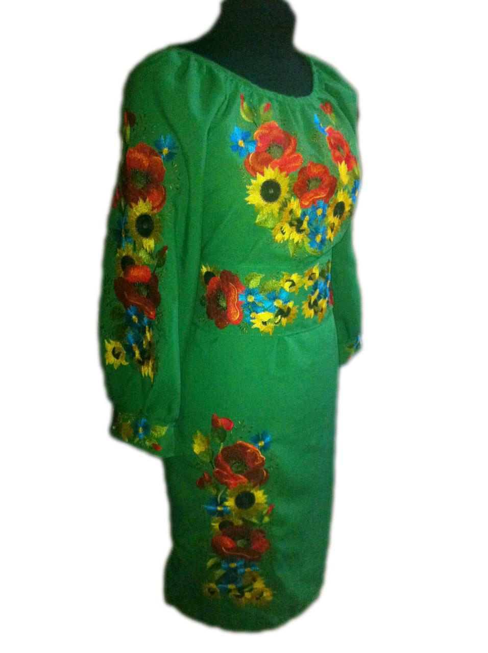 "Жіноче вишите плаття ""Малензі"" (Женское вышитое платье ""Малензи"") PT-0055"