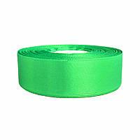 Атласная лента 2,5 см х 36 ярдов Зеленая