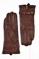 Коричневые женские кожаные перчатки Маленькие, фото 1