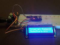 Подключаем LCD1602 дисплей к Arduino и выводим на него простой текст.