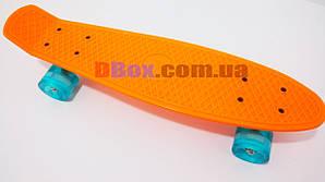 """Пенни борд Penny MS 22"""" светящиеся ABEC - 9  Оранжевый (2T2002)"""