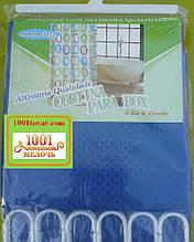 Шторка для ванной комнаты Shower curtain, однотонная синяя. Размер 180х180 см.
