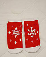 Детские зимние носки Снежинки, фото 1