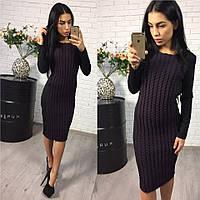 Женское красивое комбинированное платье ,2 цвета
