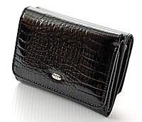 Женский кожаный кошелек ST складной маленький лаковый