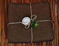 Льняная простынь 220*240 см, цвет- коричневый, фото 1