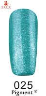 Гель лак FOX №025 (зеленый ультрамарин с шиммером) 6 мл