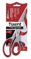 """Ножницы 21 см., """"Duoton Soft"""" с резиновыми вставками, ассорти. AXENT"""