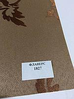 Готовая рулонная штора Флаверс коричневая