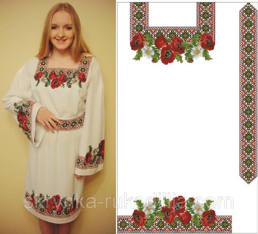 8198938f236 Заготовка жіночої сукні для вишивки нитками або бісером  продажа ...