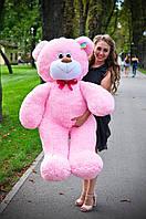 Плюшевая игрушка медведь, мишка 140 см, розовый