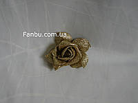 Золотая роза из латекса d-6.5см