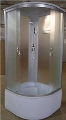 "Гидробокс без электроники EKO  на глубоком поддоне 900*900*2150 мм, полностью стеклянный ""Fabric"""