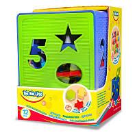 Куб-сортер, 18 форм, 1+, в коробке 18*14*14 см, ТМ BeBe lino