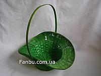 """Большая зеленая корзина """"шляпка"""" №1"""