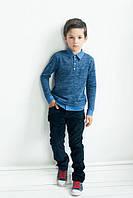 Рубашка трикотажная поло обманка для мальчика